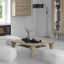 Wohnzimmer Couchtisch weiß geölt Wildeiche
