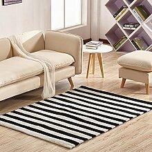 Wohnzimmer Dekoration Gestreift Teppich,Modern Einfache Handbuch Teppich Schlafzimmer Bett Teppich