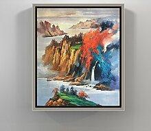 Wohnzimmer dekoration malerei/chinesisches restaurant hang painting/triptychon/eingang wandbilder/sofa-wandfarbe/malerei-E 60x80cm(24x31inch)