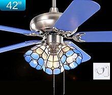 Wohnzimmer Esszimmer Ventilator Kronleuchter Mit Home Holz Blatt Schlafzimmer Fan Light (Design: Wand Control-42-Zoll)
