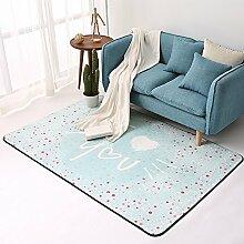 Wohnzimmer europäischen Schlafzimmer voller Couchtisch Sofa Zimmer Bett rechteckigen Teppich ( Farbe : A , größe : 160*230CM )