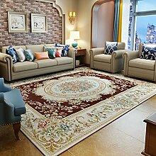 Wohnzimmer europäischer teppich/schlafzimmer decke für schlafzimmer/machine waschbar lobby tisch teppich-braun 140x200cm(55x79inch)