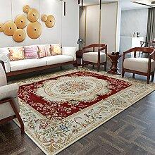 Wohnzimmer europäischer teppich/schlafzimmer decke für schlafzimmer/machine waschbar lobby tisch teppich-Rot 140x200cm(55x79inch)
