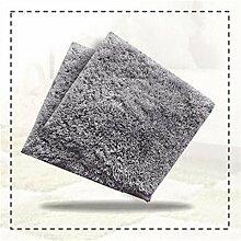 Wohnzimmer Fußmatten Puzzle Matte Baby krabbeln Schneiden Teppich Teppich Kinder spielen Wolldecke Grau 35 X 35 cm