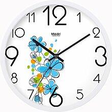 Wohnzimmer Garten Blume Kunst Wall Clock/Kreative Uhr/ silent Mode Uhr/Uhr-B 10Zoll