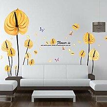 Wohnzimmer Hintergrund Wandtattoos_plant