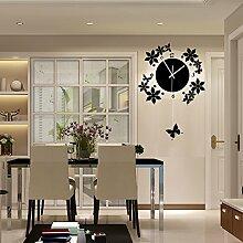 Wohnzimmer Ideen dekorative Uhren rockigen