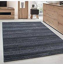 Wohnzimmer Jugendzimmer Teppich Kurzflor Grau