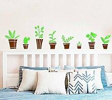 Wohnzimmer Kinderzimmer Kreative 3D Topfpflanzen Acryl Wandaufkleber , coffee