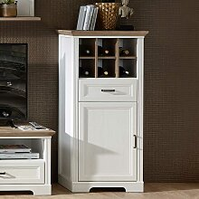 Wohnzimmer Kommode mit einer Schublade Weiß und