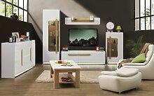 Wohnzimmer Komplett - Set A Lano, 6-teilig, Farbe: