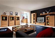 Wohnzimmer komplett Set inkl. Couchtisch, Vitrinen