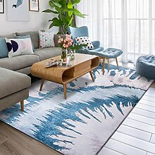 Wohnzimmer Korridor rutschfeste Teppich Mode Schlafzimmer Nacht einfach zu große Teppiche zu reinigen ( Farbe : Blau , größe : 140×200cm )