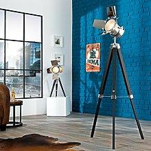 Wohnzimmer Lampe Chrom Schwarz E14 Retro