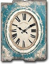 Wohnzimmer Mit Dekorativem Holz Wanduhr Kreative Wandaufkleber Amerikanische Retro Rechteckige Uhr 30 * 40cm,15