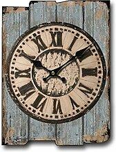Wohnzimmer Mit Dekorativem Holz Wanduhr Kreative Wandaufkleber Amerikanische Retro Rechteckige Uhr 30 * 40cm,17
