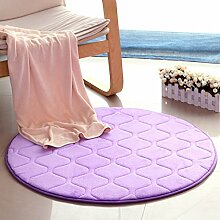 Wohnzimmer Nachttisch Fenster Teppich/Couchtisch Pad/einfache moderne Schlafzimmer Teppich (Farbe : Lila, größe : 160*160cm)