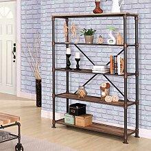 Wohnzimmer Regal in Holz verwitterter Optik und