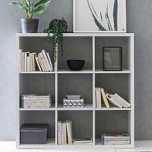 Wohnzimmer Regal in Weiß Bücher