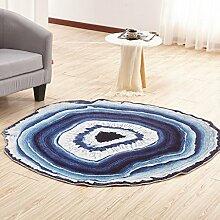 Wohnzimmer runder kreativer Teppich blau 60cm ( größe : 80cm )