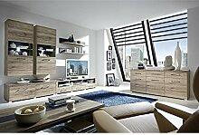 Wohnzimmer Set DEALOR258 San Remo Eiche Absetzung