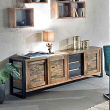 Wohnzimmer Sideboard in Bunt Recyclingholz