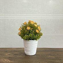 Wohnzimmer Simulation Blume Simulation Pflanze Topf Violet Kunststoff Bonsai Büro Tisch Zimmer Dekorieren Blume, tiefes Gelb