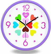 Wohnzimmer stumm Wanduhr Einfache Uhr Moderne Schlafzimmer Quarzuhr 14 Zoll,H
