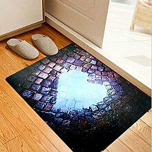 Wohnzimmer Teppich 3D Muster rechteckige Tür Matte Druck Nonwoven Stoff rutschfeste Matten , #3