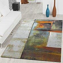 Wohnzimmer Teppich Mit Schattierung Eyecatcher Multicolour Grau Grün AUSVERKAUF, Größe:120x170 cm
