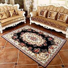 Wohnzimmer Teppich Schlafzimmer Teppich Bettvorleger European Style 70 × 120cm ( Farbe : Blau )
