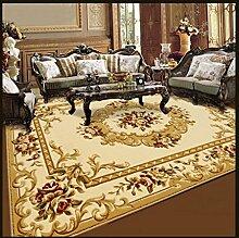 Wohnzimmer Teppich Sofa Couchtisch Teppich Nacht Bettvorleger European Style 120 × 170cm ( Farbe : 2040W )