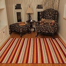 Wohnzimmer Teppiche Couchtisch Sofa-Kissen amerikanische landwirtschaftliche Gestreiftes Nacht Bett Teppiche Moderne Minimalis