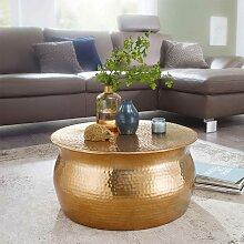 Wohnzimmer Tisch aus Aluminium Goldfarben