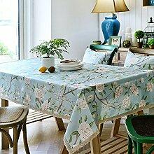 Wohnzimmer-tischdecke/Couchtisch Tuch Lace/American Ländlichen Tischdecke/Pastorale Stoff Tischdecke-B 80x120cm(31x47inch)