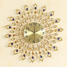 Wohnzimmer Uhr European Kreativ Pastoral Shi Ying Stumm Uhren 72 * 72cm