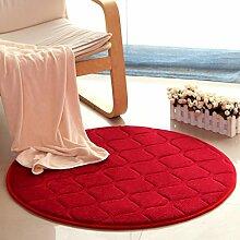Wohnzimmer Vollboden Bedside Bucht Fenster Teppich, Couchtisch rechteckige Pad, einfache moderne Schlafzimmer Teppich ( Farbe : Rot , größe : 160cm )