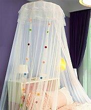 Wohnzimmer Vorhänge Vorhänge im Schlafzimmer Hängend Kuppel Moskitonetz Geöffnete Tür Prinzessin Landung Insektennetz Moskitonetzen Continental Vorhang Baumwollvorhänge ( Farbe : A , größe : 1.2M )