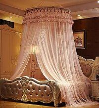 Wohnzimmer Vorhänge Vorhänge im Schlafzimmer Hängend Kuppel Moskitonetz Geöffnete Tür Prinzessin Landung Insektennetz Moskitonetzen(Ein pack von zwei) Continental Vorhang Baumwollvorhänge ( Farbe : Pink , größe : 1.2*2m )