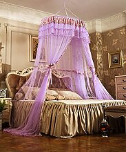 Wohnzimmer Vorhänge Vorhänge im Schlafzimmer Hängend Kuppel Moskitonetz Geöffnete Tür Prinzessin Landung Insektennetz Moskitonetzen Continental Vorhang Baumwollvorhänge ( Farbe : Lila )