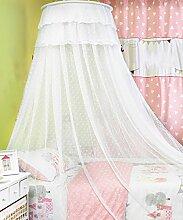 Wohnzimmer Vorhänge Vorhänge im Schlafzimmer Hängend Kuppel Moskitonetz Geöffnete Tür Prinzessin Landung Insektennetz Moskitonetzen Continental Vorhang Baumwollvorhänge ( Farbe : Weiß , größe : 1.5M )