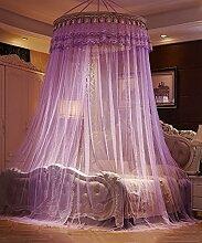 Wohnzimmer Vorhänge Vorhänge im Schlafzimmer Hängend Kuppel Moskitonetz Geöffnete Tür Prinzessin Landung Insektennetz Moskitonetzen(Ein pack von zwei) Continental Vorhang Baumwollvorhänge ( Farbe : Lila , größe : 1.8*2.2m )
