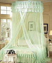Wohnzimmer Vorhänge Vorhänge im Schlafzimmer Hängend Kuppel Moskitonetz Geöffnete Tür Prinzessin Landung Insektennetz Moskitonetzen Continental Vorhang Baumwollvorhänge ( Farbe : Grün , größe : 2M )