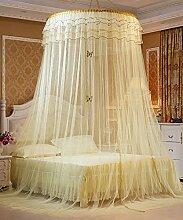 Wohnzimmer Vorhänge Vorhänge im Schlafzimmer Hängend Kuppel Moskitonetz Geöffnete Tür Prinzessin Landung Insektennetz Moskitonetzen Continental Vorhang Baumwollvorhänge ( Farbe : Gelb )