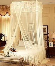 Wohnzimmer Vorhänge Vorhänge im Schlafzimmer Hängend Kuppel Moskitonetz Geöffnete Tür Prinzessin Landung Insektennetz Moskitonetzen Continental Vorhang Baumwollvorhänge ( Farbe : Gelb , größe : 1.8*2.2M )
