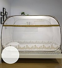 Wohnzimmer Vorhänge Vorhänge im Schlafzimmer Jurten Moskitonetz Drei Öffnen Die Tür Reißverschluss Studentenwohnheim Insektennetz Moskitonetzen Continental Vorhang Baumwollvorhänge ( Farbe : Gelb , größe : 1.2m(4 inch) )