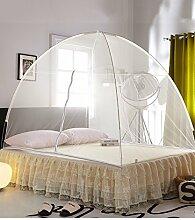 Wohnzimmer Vorhänge Vorhänge im Schlafzimmer Moskitonetz Offene Tür Prinzessin Insektennetz Moskitonetzen Continental Vorhang Baumwollvorhänge ( Farbe : Gelb , größe : 1.5*2m )