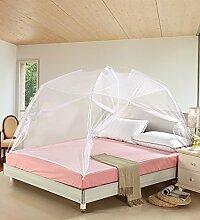 Wohnzimmer Vorhänge Vorhänge im Schlafzimmer Moskitonetz Offene Tür Prinzessin Insektennetz Moskitonetzen Continental Vorhang Baumwollvorhänge ( Farbe : Weiß , größe : 1.5*2m )