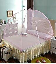 Wohnzimmer Vorhänge Vorhänge im Schlafzimmer Moskitonetz Offene Tür Prinzessin Insektennetz Moskitonetzen Continental Vorhang Baumwollvorhänge ( Farbe : Pink , größe : 1.2*2m )