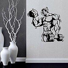 Wohnzimmer Wandaufkleber Fitness Center Workout
